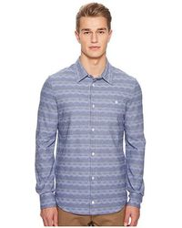 Missoni Jersey Denim Zigzag Button Up Shirt (blue) Clothing