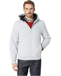 392820f08b1e39 Tommy Hilfiger - Hoodie Bomber With Bunny Sherpa Lining - Lyst