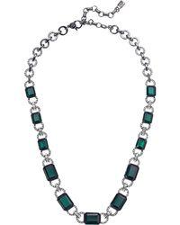 """Lauren by Ralph Lauren - 17"""" Stone Collar Necklace - Lyst"""