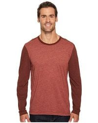 Agave - Shoaling Long Sleeve Color Block Neps T-shirt (burnt Henna) Long Sleeve Pullover - Lyst