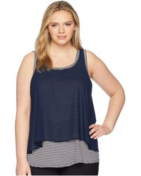 B Collection By Bobeau - Plus Size Sydney Stripe Tank Top - Lyst