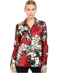 DSquared² - Fantasy Printed Silk Pajama Shirt - Lyst