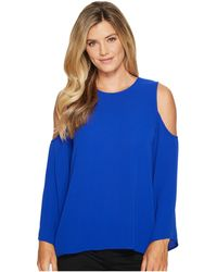 Vince Camuto - Cold Shoulder Mixed Media Top - Lyst