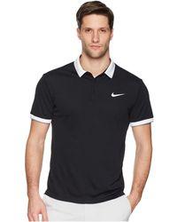 Nike - Court Dry Tennis Polo (white/black/cool Grey/black) Men's Clothing - Lyst