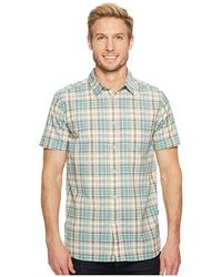 c9fe563b The North Face - Short Sleeve Baker Shirt (bristol Blue Plaid) Short Sleeve  Button
