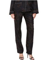 Vera Wang - Printed Skinny Pajama Pants - Lyst