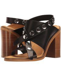 95c0ddd79cf Lyst - Miu miu Women s Leather Studded Adjustable Strap High Heel ...
