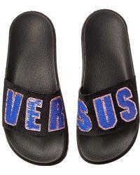 328b00e97 Versus - Footbed Sandal Rubber Sole H.20+sequins Lettering Velluto - Lyst