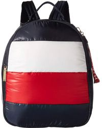 e28f5fd1ed1 Lyst - Tommy Hilfiger Th Grommet Color Blocked Backpack in Blue