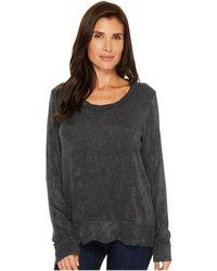 Mod-o-doc - Chenille Sweater Knit Forward Seam Long Sleeve Sweater - Lyst