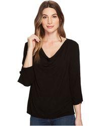 Michael Stars - Jersey Lycra® 3/4 Sleeve Cowl Neck Top - Lyst