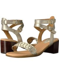 f5d45c6aeb7 Lyst - Dune Mora Rose Gold Barely There Heeled Sandals in Pink