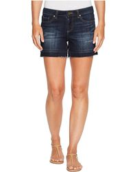 Two By Vince Camuto - Undone Hem Indigo Jean Shorts - Lyst