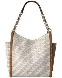 05204d8cadd Lauren by Ralph Lauren. Newbury Double Zipper Shopper Bag.  381. MyBag ·  MICHAEL Michael Kors - Newbury Medium Chain Shoulder Tote - Lyst