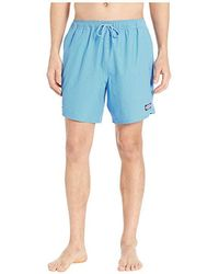 648cac6a7e517 Vineyard Vines - Fine Line Stripe Chappy Swim Shorts (hull Blue) Swimwear -  Lyst