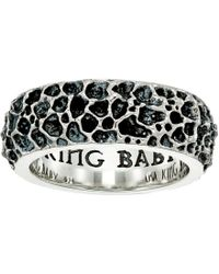 King Baby Studio - Lava Rock Textured Band Ring - Lyst