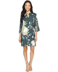 Karen Kane | Floral Print Shift Dress | Lyst