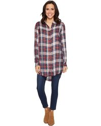 Jag Jeans - Magnolia Tunic In Rayon Plaid - Lyst
