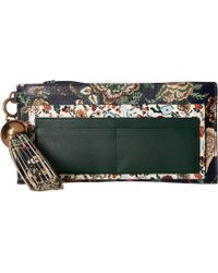 Tory Burch - Floral Tassel Top Zip Wallet - Lyst