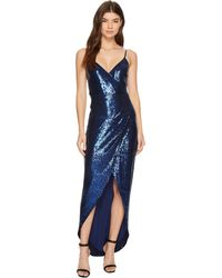Nicole Miller - Shell Stretch Sequin Wrap Dress - Lyst