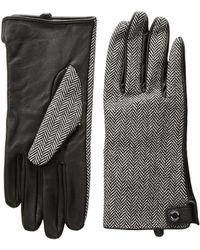 CALVIN KLEIN 205W39NYC - Leather Palm Herringbone Gloves - Lyst