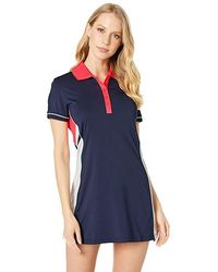 2734836f Fila - Heritage Tennis Polo Dress (navy/white/diva Pink/mint)