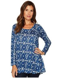 Nally & Millie - Blue Ikat Print Tunic (multi) Clothing - Lyst