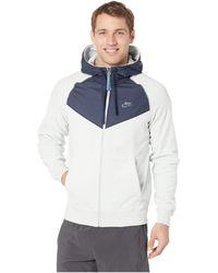 b352ea668755 Lyst - Nike Sportswear Club Fleece Full Zip Hoodie in Blue for Men