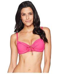 54e6882172d38 Lauren by Ralph Lauren - Beach Club Solid Underwire Loop Front Bra Top  (passion Fruit