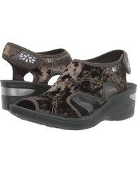 0e8ff3a346 Ancient Greek Sandals Drama Leather Platform Sandals in Black - Lyst
