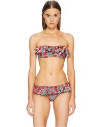 Moschino - Cherry Print Ruffle Bikini - Lyst