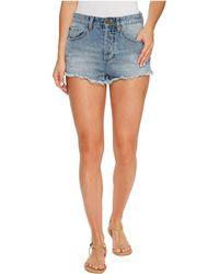 Amuse Society - Easton Mid-rise Denim Shorts In Faded Indigo - Lyst