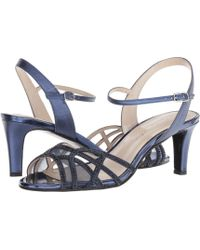 355c1c202f47 Lyst - Gucci Noah Evening Sandal in Metallic