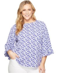 MICHAEL Michael Kors - Plus Size Carnation Flare Sleeve Top - Lyst