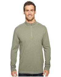 ECŌTHS - Black Rock 3/4 Zip Shirt (agave Green) Long Sleeve Pullover - Lyst