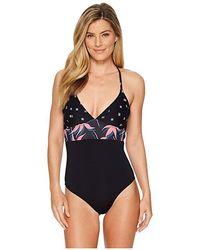 71394654161c6 Carve Designs - Dahlia One-piece (dash/flamingo Palms/black) Swimsuits