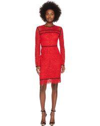 Sportmax - Nancy Long Sleeve Lace Dress - Lyst
