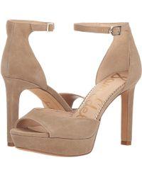 f422d723b30 Lyst - Sam Edelman Jerin (black Nappa Leather) Women s Shoes in Black