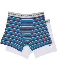Tommy Bahama | Stripe Stretch Cotton Comfort Boxer Briefs 2-pack | Lyst