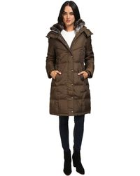 London Fog - Quiled Puffer With Fur Collar - Lyst