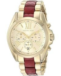 fafd23c0fb Michael Kors - Oversized Bradshaw Gold-tone And Acetate Watch - Lyst
