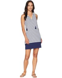 2571abccf6 Tommy Bahama - Channel Surf Split-neck Spa Dress Cover-up - Lyst