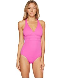Athena - Solid Crisscross One-piece - Lyst