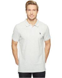 U.S. POLO ASSN. - Twisted Yarn Polo Shirt - Lyst