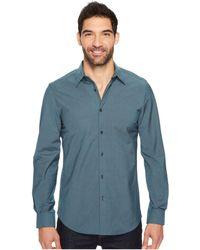 Perry Ellis - Long Sleeve Stripe Shirt - Lyst
