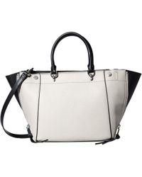 549d47f5f9 Calvin Klein - Susan Saffiano Leather Trapeze Satchel - Lyst