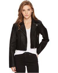 Jack BB Dakota - Devi Washed Vegan Leather Moto Jacket - Lyst