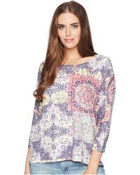 Nally & Millie - Dolman Sleeve Tile Print Tunic - Lyst