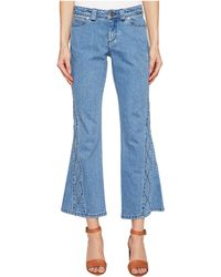 See By Chloé - Denim Pants W/ Embroidery - Lyst