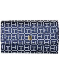 Tommy Hilfiger - Th Serif Signature Convertible Crossbody Wallet - Lyst